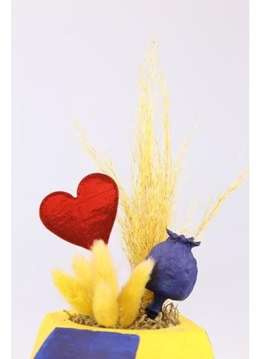 Kibrithane Çiçek Yapay Çiçek Taraftar Çiçeği Sarı Lacivert Aranjman Kc00200764 Renkli